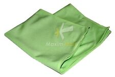 """24 Microfiber Glass Cloths Green 16""""x16"""" Cleaning Detailing Towels Auto Car Rag"""