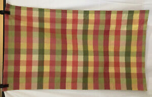 Pair Country Curtains Brand Buffalo Check Moire Plaid King Pillow Shams EUC