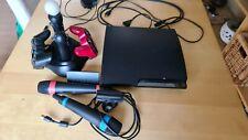 Sony PlayStation 3 Slim 320GB CECH-2504B mit 21 Spielen, Singstar + Move