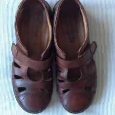 Ladies Josef Seibel Brown Leather spirit nature Sandals Shoes Size 5