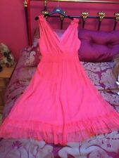 Almost Famous Pure Silk Chiffon Dress Size 14 (party,cruise,holiday)