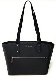 Michael Kors Polly Medium Top Zip Nylon Tote Shoulder Bag Handbag