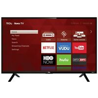 "Televisor HD LED (32S301)TCL 32"" Class Full HD (1080p. Resolution) Roku Smart"