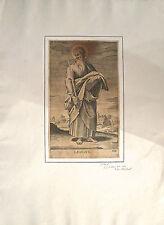 Burin sur vergé, Saint Paul, Girolamo Rossi, XVIIème d'après Raphaël