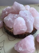 4 Raw Rose Quartz Crystals -- Natural Quartz, Rough (Healing Stone)