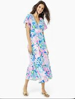 Lilly Pulitzer Jessi Midi Dress Peony For Your Thoughts Size