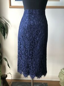 Review Navy Lace Pencil Skirt Size 10