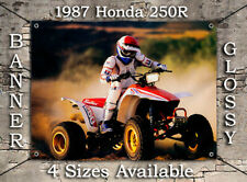 1986 HONDA FOURTRAX 250R TRX QUAD BANNER OEM Brochure Ad