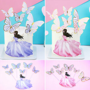 Cake Toppers Flag Beauty Butterfly DIY Cupcake Topper Happy Birthday Baking Deco
