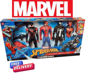 12 Inch Marvel Spiderman Titan Heroes Series Blast Gear Collection
