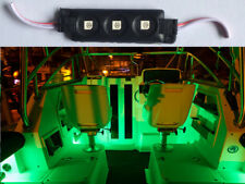 12V 3-SMD GREEN LED WATERPROOF BOAT/DECK/FISHING/CARAVAN LIGHTS 1 MODULES W