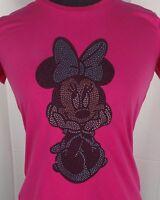 Woman's Minnie Mouse Rhinestone Tshirt Tee Ladies bling shirt Disney inspired