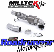 "MILLTEK Focus RS MK3 3"" largebore il tubo verticale & Hi FLO SPORTS CAT TUBO DI SCARICO INOX"