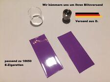 Batterie Akku Schrumpfschlauch E-Zigarette Flieder lila 1=2 Schläuchefür 18650