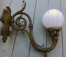 """Antique Bronze Gothic Figural Seahorse Gas Sconce Wall Lamp Architectural 16x16"""""""