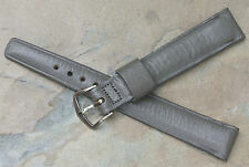 Vintage watch 16mm grey Norwegian Calf NOS band 1960s/70s nicely tapered shape