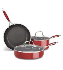 New KitchenAid Aluminum Nonstick 5-Piece Cookware Pots and Pans Set KCAS05BER