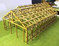 HO scale building 3 Bay loco shed NSWGR  Frame work ONLY