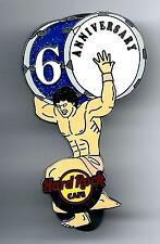 Hard Rock Cafe Athens 6th Anniversary Pin RARE. Ann.*
