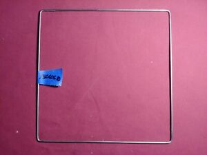 """VINTAGE SQUARE WIRE LAMP SHADE FRAME FORM LAMP PARTS CLOTH RESTORATION 1/8"""""""