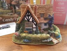 """Lilliput Lane """"Candy Twist"""" Mib with deed. Special Club Edition. Rare perfect"""