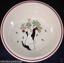 "STUDIO NOVA MIKASA CD902 KITTY'S DELIGHT BOWL 6 1/8"" CAT & CHRISTMAS ORNAMENTS"