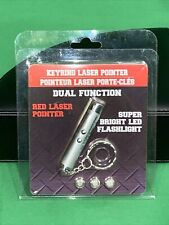 2 in 1 Keyring Laser Pointer and Flashlight, Batteries Included