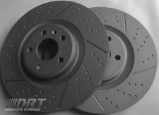 Fits BMW M235 M240 Dimple Slot Brake Rotors Germany M-Performance Style Rear