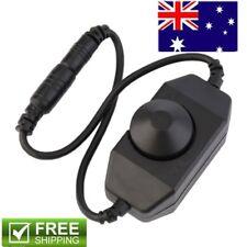 Black DC12V 0-100% PWM Manual Knob Dimmer Switch for LED Strip Light CL