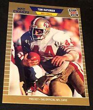 TOM RATHMAN 1989 Pro Set ERROR Blank Back Super Bowl XXIV Proof? RARE 49ers