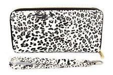 FreshGadgetz Cheetah Snow Leopard Print Purse Wallet for Women Ladies - White