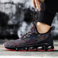 Mens Sport Sneakers Shoes Fly-knit Breathable Running Trail Casual Shoes Hot