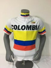 COLOMBIA BIKE JERSEY WHITE BIKES SHIRT SIZE L COOL COLUMBIAN NATIONAL JERSEY