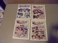 LOT OF 4 1999.2000 WATERFORD SPEEDBOWL RACING PROGRAMS CONN.50TH ANIVERSARY ISSU