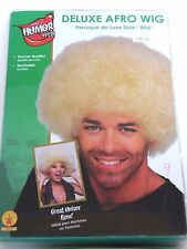 Deluxe Blonde Afro Washable Wig Halloween Costume Rubies Trick Or Treat