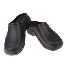 Black Chef Cook  Nurse Shoes Orthopedic Clogs Strapless for Men Women