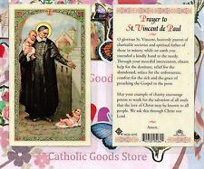 Saint Vincent de Paul - Prayer to St. Vincent de Paul  - Laminated Holy Card