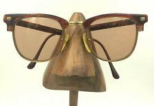 Vintage Guess Brown Gold Oval Browline Horn-Rimmed Eyeglasses Sunglasses Frames