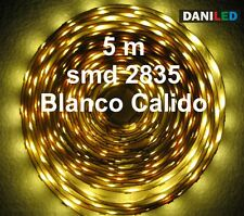 Tira Led 5M 300 led SMD 2835 BLANCO CALIDO INTERIOR