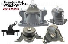 9R3511 5pc Motor Mounts fit AUTO 2.4L Honda Accord 2008 - 2012 Engine TransMount