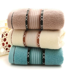 34x76 Cm Soft Cleaner Towel Cotton Bath Sheet Absorbent Face Hand Bathroom Towel