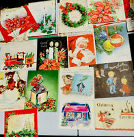 91 VINTAGE CHRISTMAS GREETING CARD - JUNK JOURNAL - LOT #57