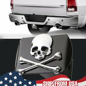 HEAVY DUTY Aluminum 3D Skull Trailer Tow Hitch Plug Cover For 2'' Receivers Tube