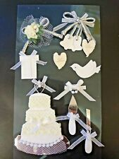 Wedding theme, sticker / toppers, cardmaking scrapbooking