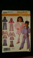 SIMPLICITY CHILDS JUMPER SKIRT PANTS JACKET & PONCHO PATTERN SIZE 3-8