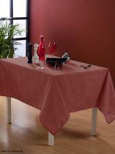 Nappe en toile cirée carrée 180X180 cm Effet tissage cranberry