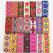 7 Yards Vintage Floral Embroidered Jacquard Ribbon Trim braid Lace Fringe Crafts