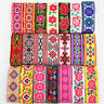 7 Yards Vintage Floral Embroidered Jacquard Ribbon Trim braid Lace Fringe Crafts