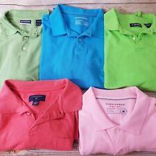 Lot of 5 Men's Shirts Chaps & Saddlebred Size XL Golf Shirts Short Sleeve