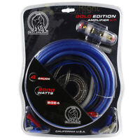 Bullz Audio 4 Gauge Amp Kit Car Amplifier Installation Power Wiring Kit BGE4BB